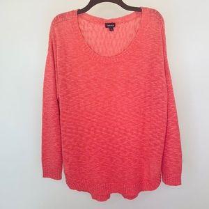 Torrid Plus Coral Scoop Neck Sweater Size 1X